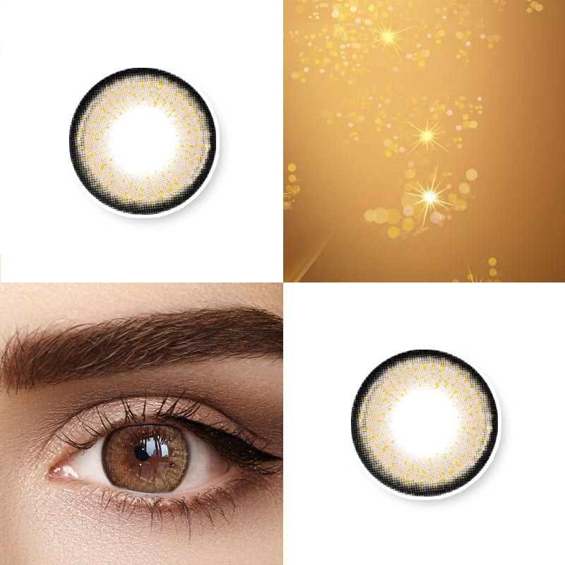 Mrs. H Colored Contact Lenses Aurum 14.5mm 1 Pair