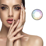 Mrs. H Colored Contact Lenses Rainbow 14.20mm 1 Pair