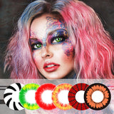 Mrs. H Colored Contact Lenses Cosplay Art Film 14.5mm 1 Pair
