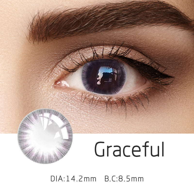 Mrs. H Colored Contact Lenses Graceful 14.20mm 1 Pair