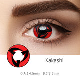 Mrs. H Colored Contact Lenses Cosplay Kakashi 14.5mm 1 Pair
