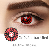 Mrs. H Colored Contact Lenses Cosplay Ciel's Contract 14.5mm 1 Pair