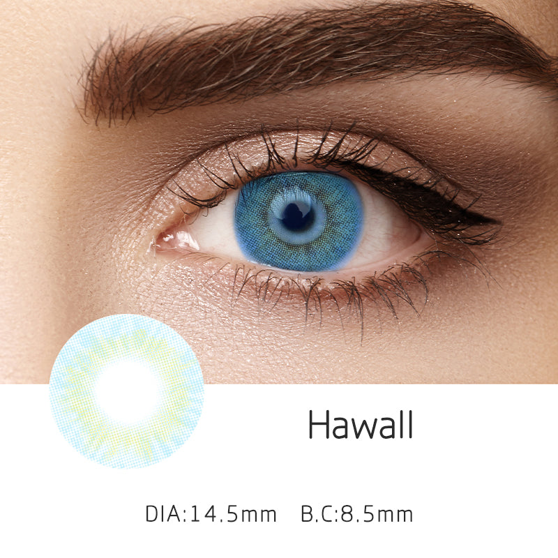 Mrs. H Colored Contact Lenses Hawaii 14.50mm 1 Pair