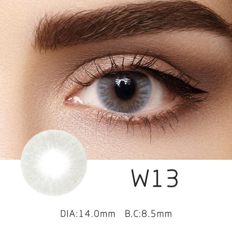Mrs. H Colored Contact Lenses W13-gray 14.50mm 1 Pair