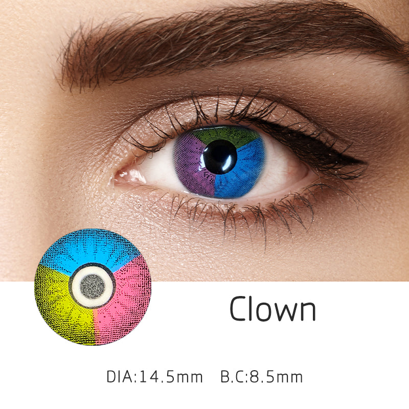 Mrs. H Colored Contact Lenses Clown 14.5mm 1 Pair