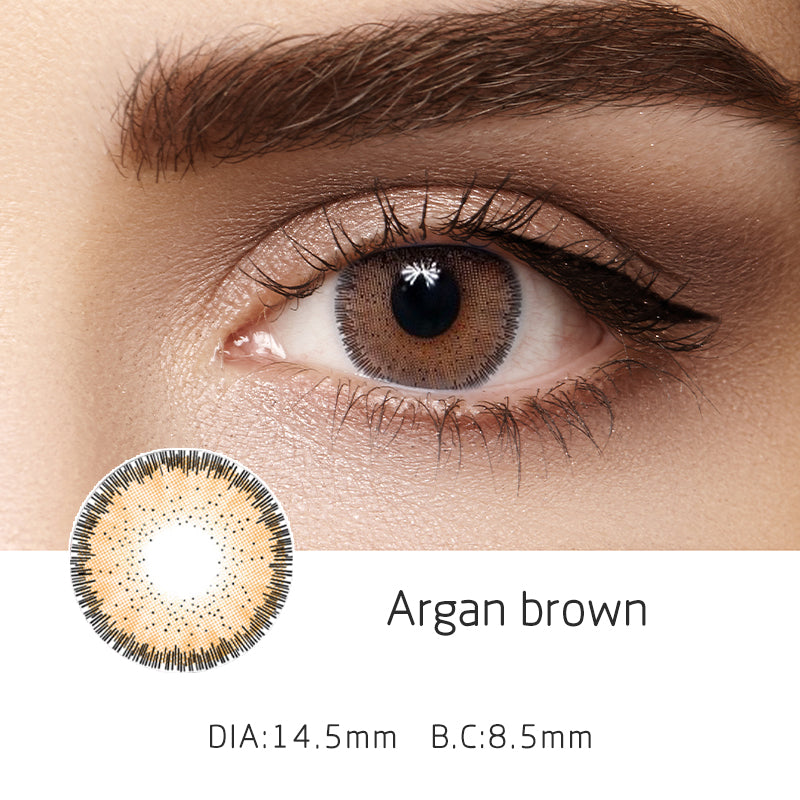Mrs. H Colored Contact Lenses Argan 14.50mm 1 Pair