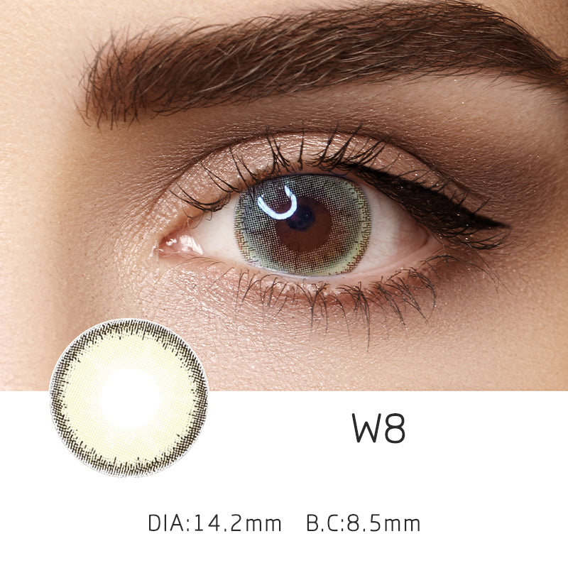Mrs. H Colored Contact Lenses carmel 14.20mm 1 Pair