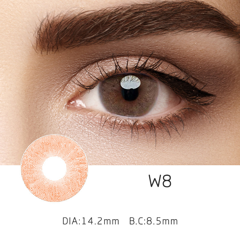Mrs. H Colored Contact Lenses Marron 14.2mm 1 Pair