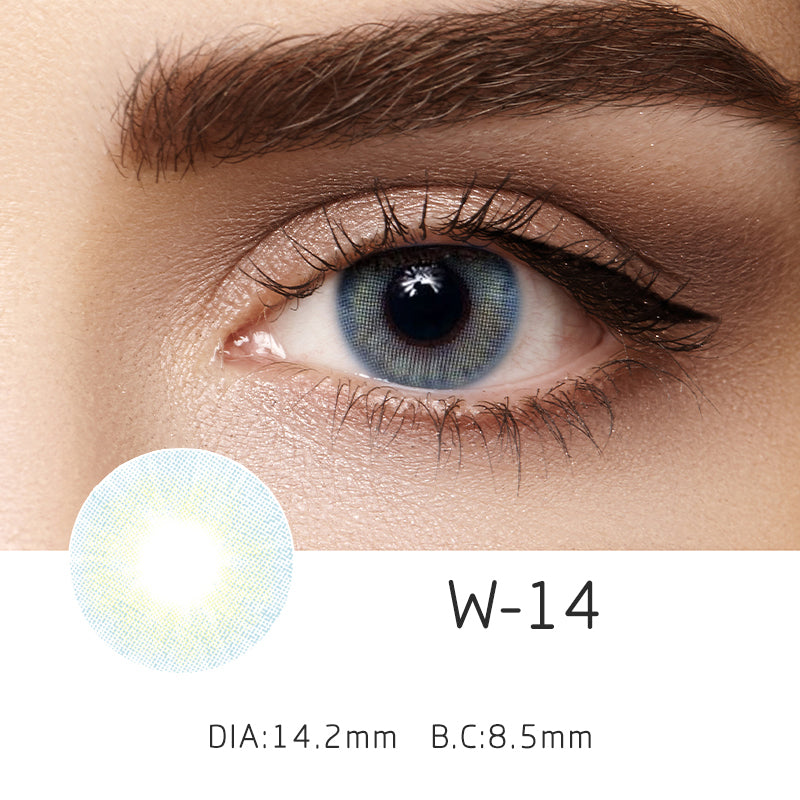 Mrs. H Colored Contact Lenses W14-blue 14.50mm 1 Pair