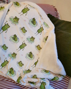 Watercolour Frogs Blanket