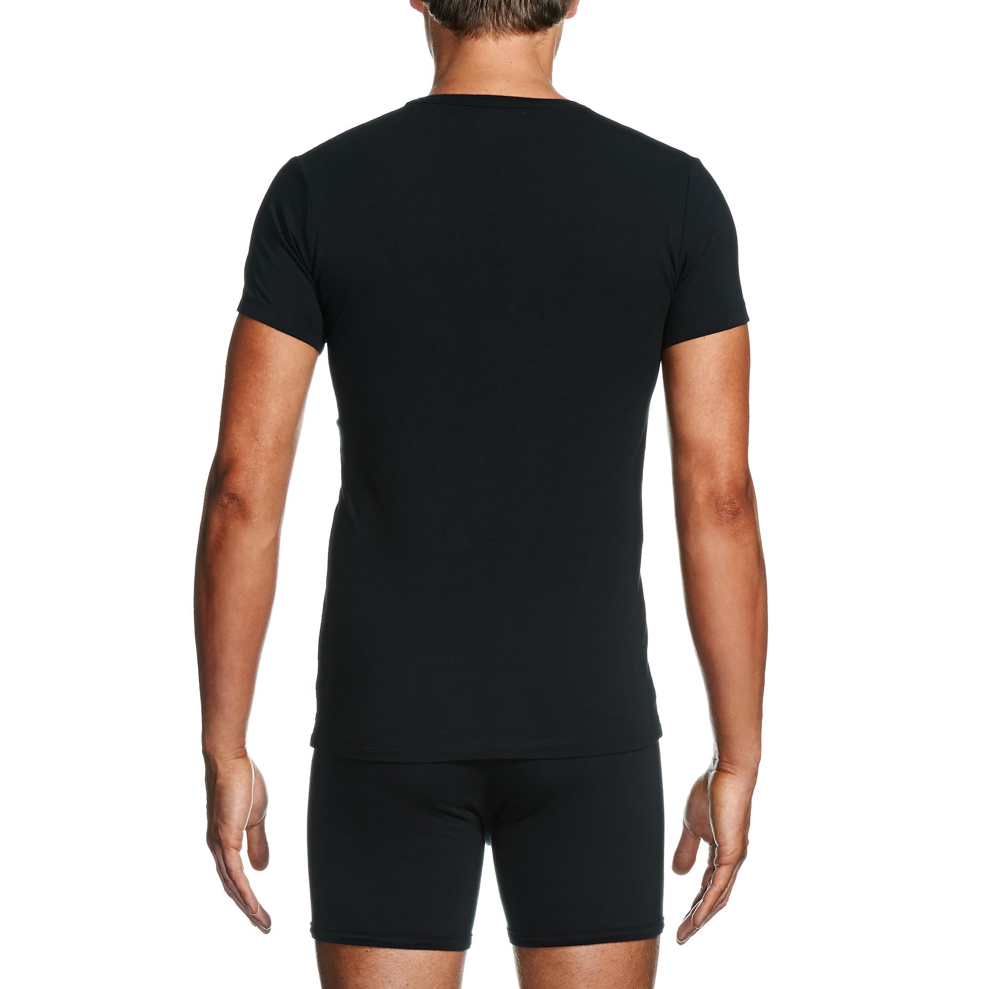 Black t shirts v neck -  Package Men S V Neck T Shirt In Black Back