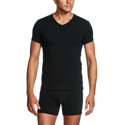 Package Black V-Neck T-Shirt