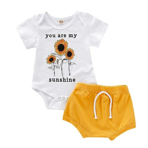 baby 2pcs clothes Set For Newborn Infant Baby - BY Transportation