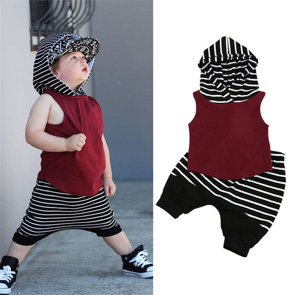 2pcs Toddler Kids Baby Boy Clothes Set Summer - Karbro