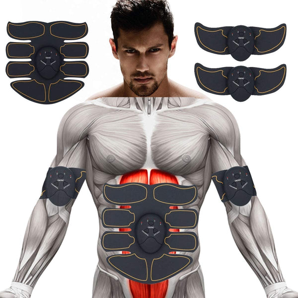 Abs Stimulator Muscle Trainer for Men Women Abdominal Work Out Power Fitness Abs Muscle Training Gear Equipment Portable - BY Transportation