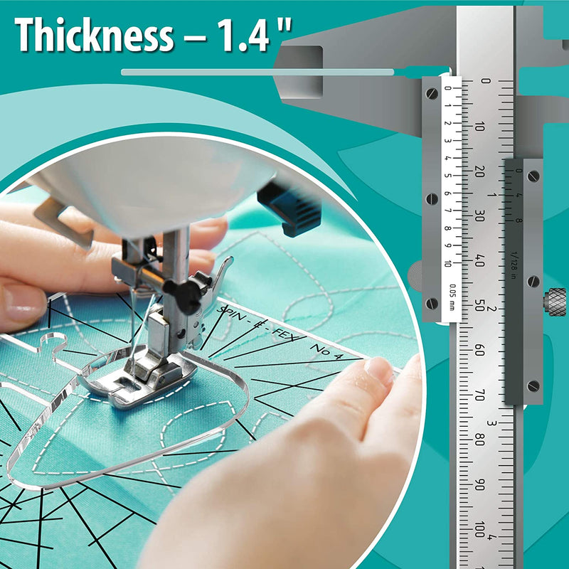 "Quilting Templates for Domestic Sewing Machine – Sewing Tools Kit – Acrylic Template Quilting Ruler – Rulers and Templates Thickness 1/4"" - Karbro"