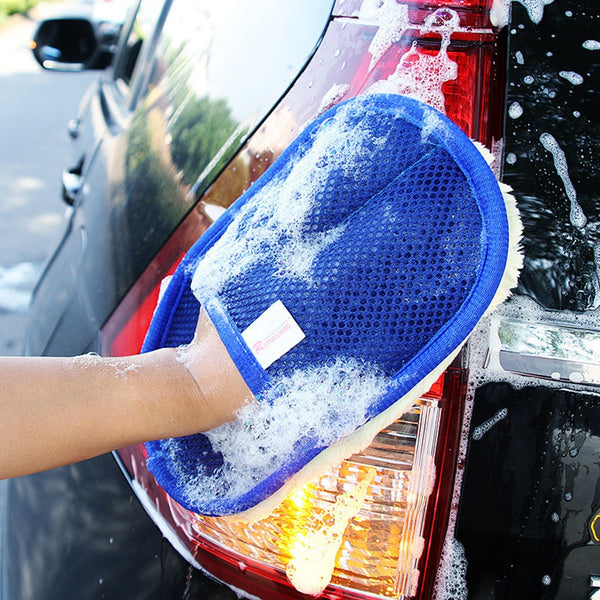 Car Wash Cleaning Sponge Brush Glass Cleaner Blue - Karbro