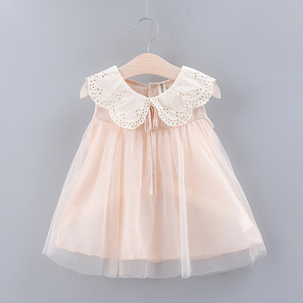 Cute Lace Collar Tulle Dress - Karbro