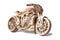 Wooden Puzzle Motorcycle - Mechanical Model Kit for Adults and Kids - Karbro