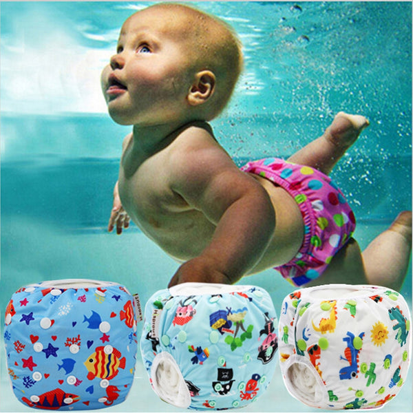 Newborn Baby Swimwear Adjustable Swim Diaper - BY Transportation