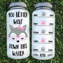 You Better Wolf Down This Water Bottle | 34oz - Karbro