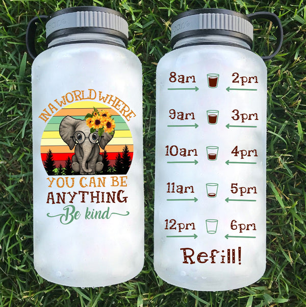 Be Kind Elephant Water Bottle | 34oz - Karbro