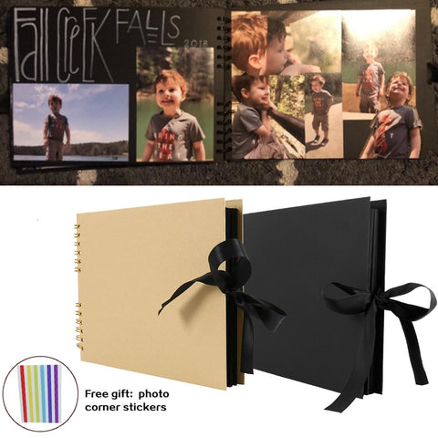 60 Pages Photo Albums Scrapbook Paper DIY Craft Album