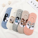 5 Pairs/Pack Embroidered Expression Women Socks