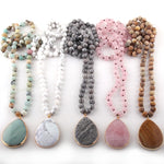 Fashion Bohemian Jewelry Natural Stone Knotted Stone