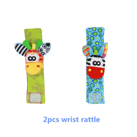 Baby Kids Socks rattle toys Wrist Rattle and Foot Socks 0~24 Months