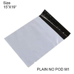 919 Tamper Proof Courier Bags(15X19 PLAIN NO POD M1) - 100 pcs