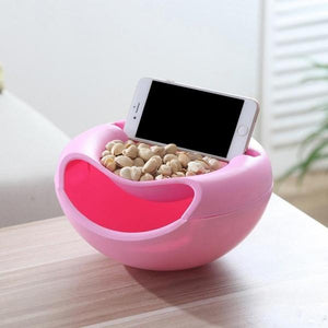 250 Pista Nut Fruit Platter Serving Bowl With Mobile Phone Holder by HomeFast