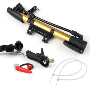 544 Aluminum Mini Bicycle Air Pump (Multicolor)