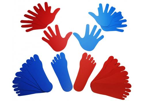 Hands and Feets (Right in Red, Left in Blue) - From Edu-Fun