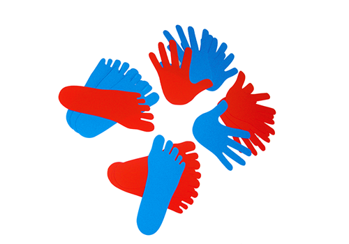 Hands and Feets (Right in Red, Left in Blue)