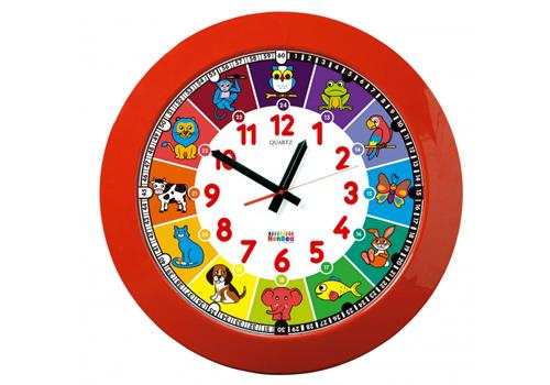 Giant School Clock,Animal (Red Frame)