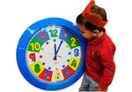 Giant School Clock,Numbers with Childern (Blue Frame)