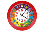 Educational Quartz Clock,Animals (Red Frame)