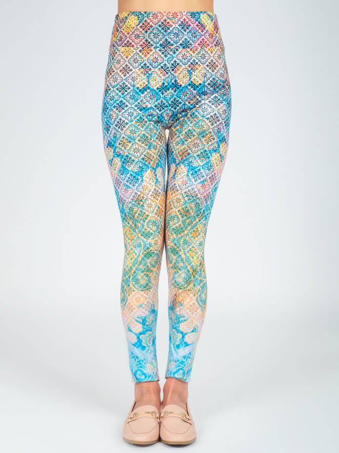 Cubidupi Ethnic Sunrise Printed Leggings