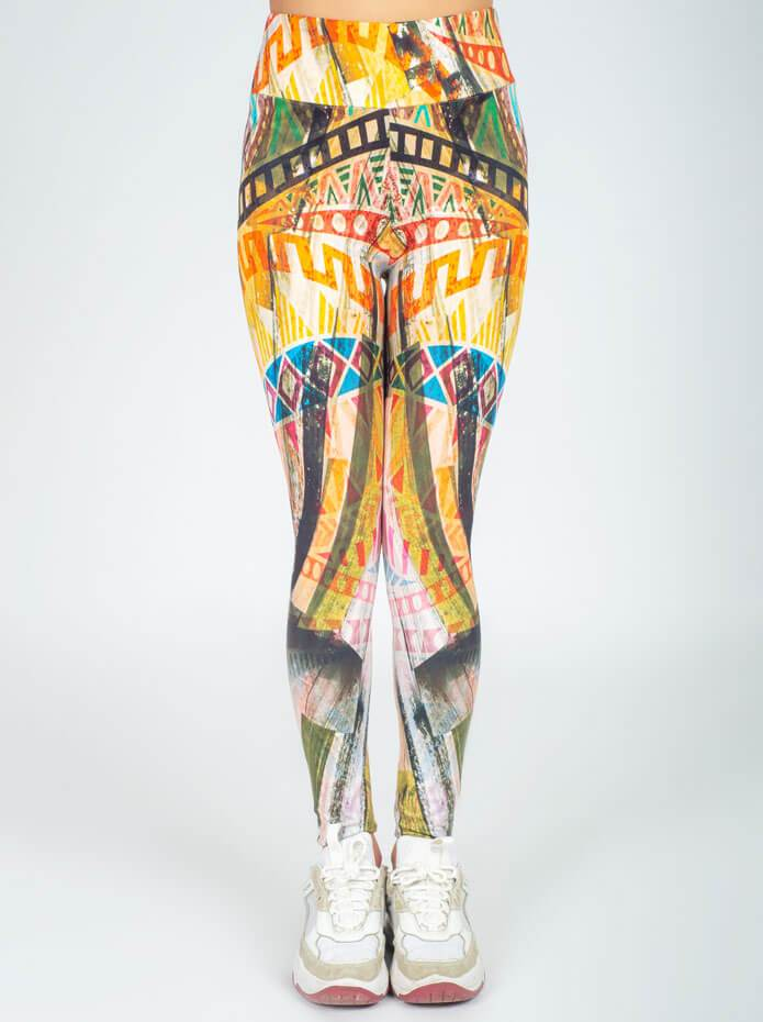 Cubidupi Tribal Culture Printed Leggings