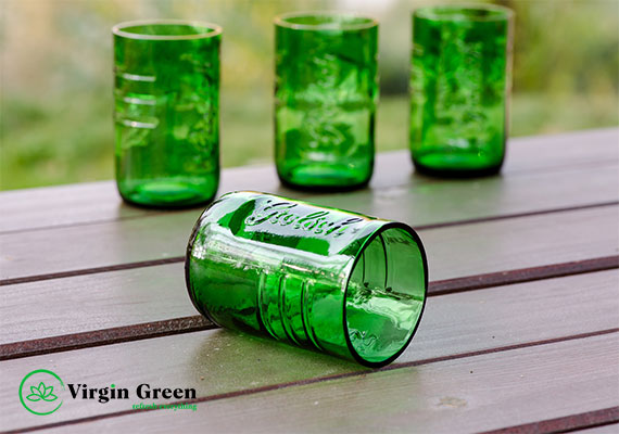 Set 4 pahare  GROLSCH Upcycled