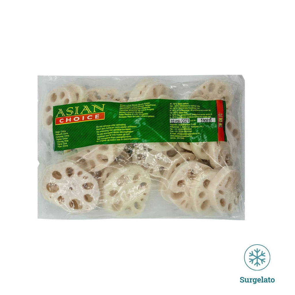 Radice di loto a fette 500g di Asian choice