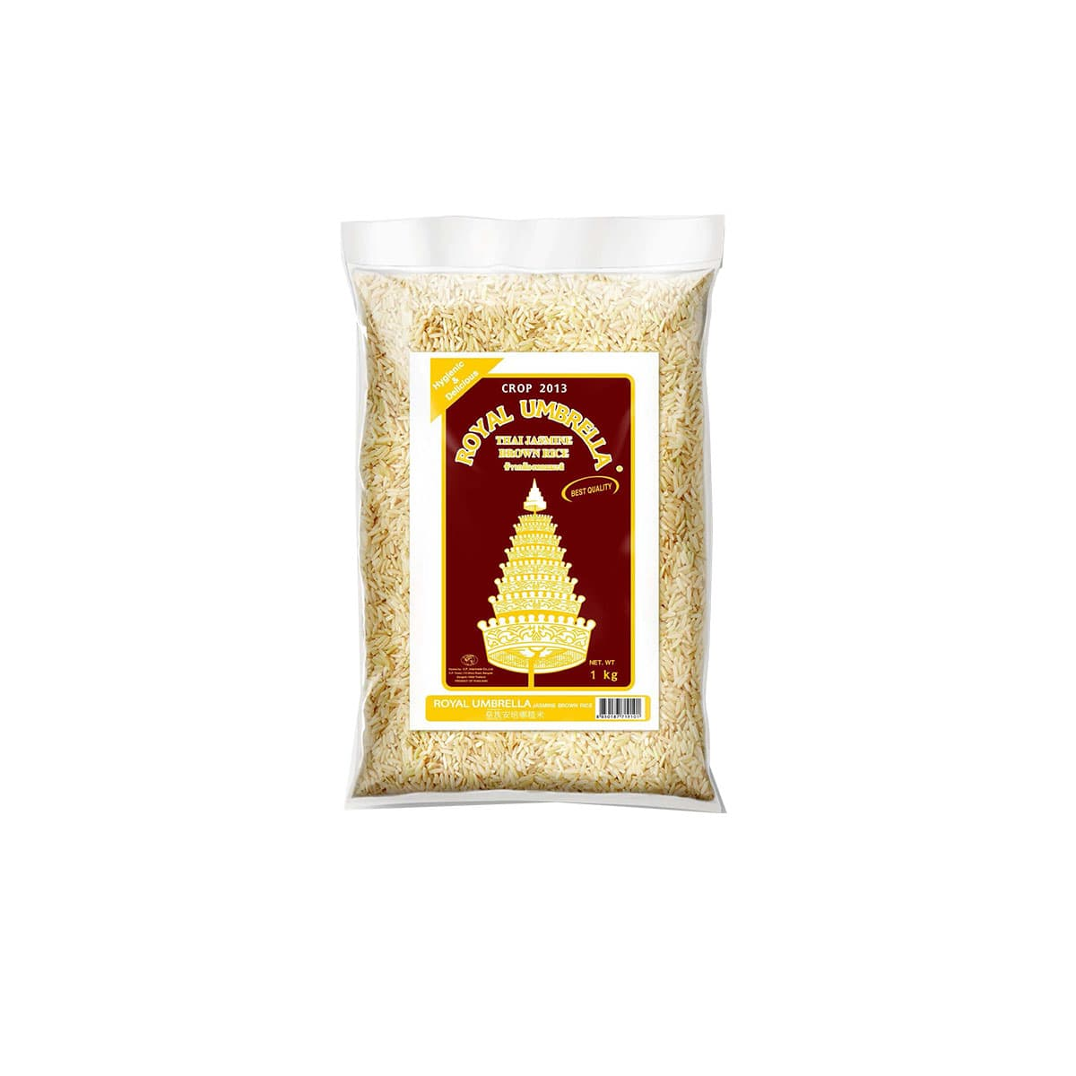Riso integrale lungo b jasmin 1kg di Royal umbrella