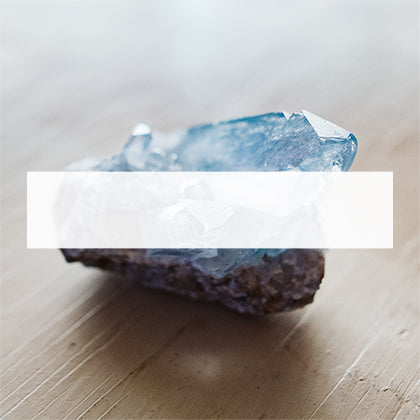 blue raw crystal