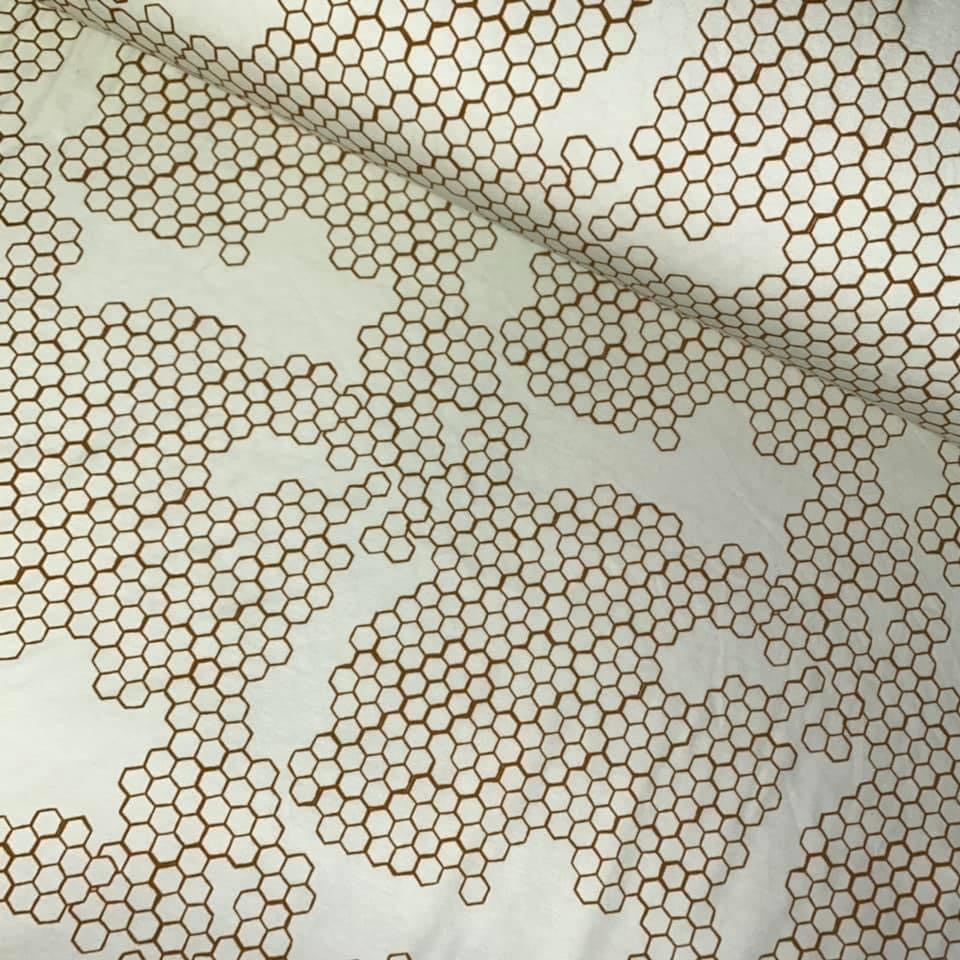 Busy Bees Honeycomb Cotton Jersey