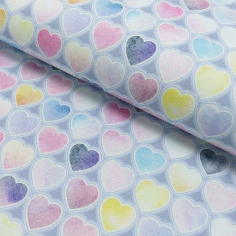 Pastel Hearts French Terry