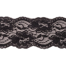 Load image into Gallery viewer, Black 8cm Stretch Lace (4693595947105)