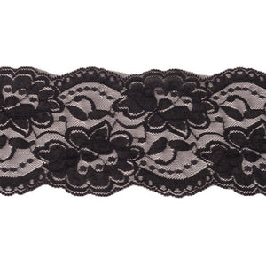 Black 8cm Stretch Lace (4693595947105)