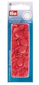 Prym Non-Sew Colour Snaps- Red (4720612540513)