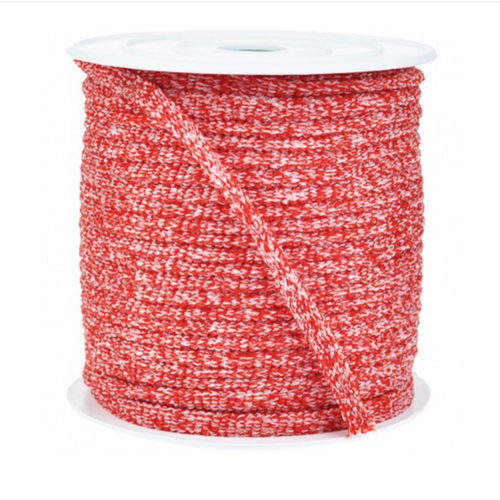 Red Melange Soft Elastic (4693619474529)